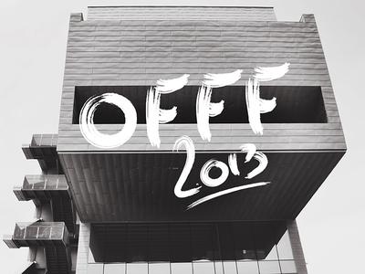 Offf Barcelona 2013 offf type barcelona