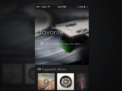 Music App app application music ios7 ui mobile