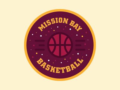 Mission Bay Basketball logo colors badge basket basketball