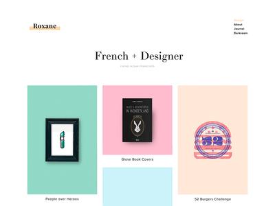Personal Website - 2015 webdesign project design colors flat web portfolio