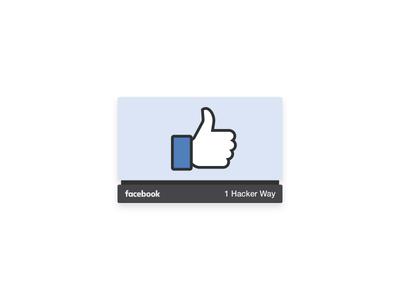I'm joining Facebook! blue illustration like sign thumb join job new facebook