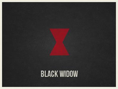 Black Widow marvel avengers minimal black widow