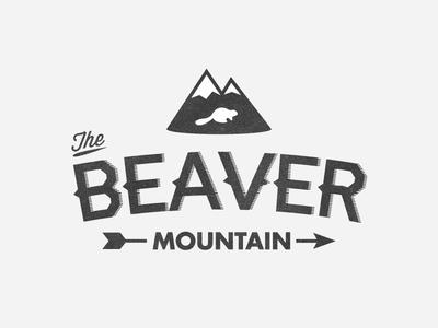 The Beaver Mountain logo retro mountain beaver