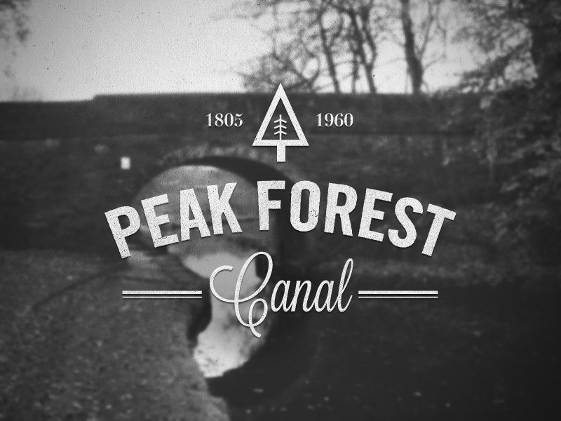 Peak Forest Canal retro logo vintage type typography canal nature