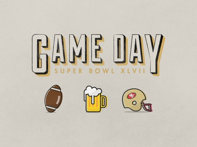 Super Bowl XLVII superbowl illustration 49ers football retro