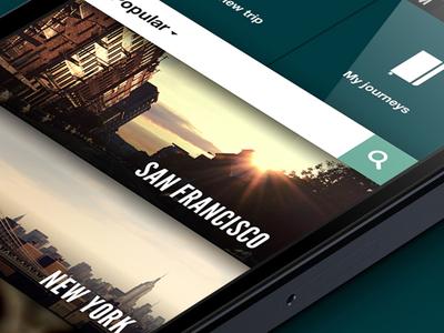 Journeys App  app journey trip travel ui