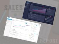 Dark and light theme dashboard UI design