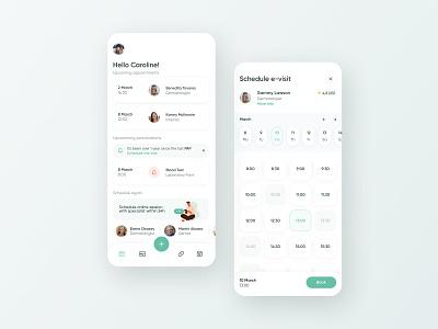 Medical App Concept - Online Consultation Management healthcare medical mobile app design concept app mobile