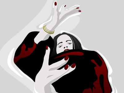 flamenca ilustración design cutefilm movement sketchapp sketch illustration