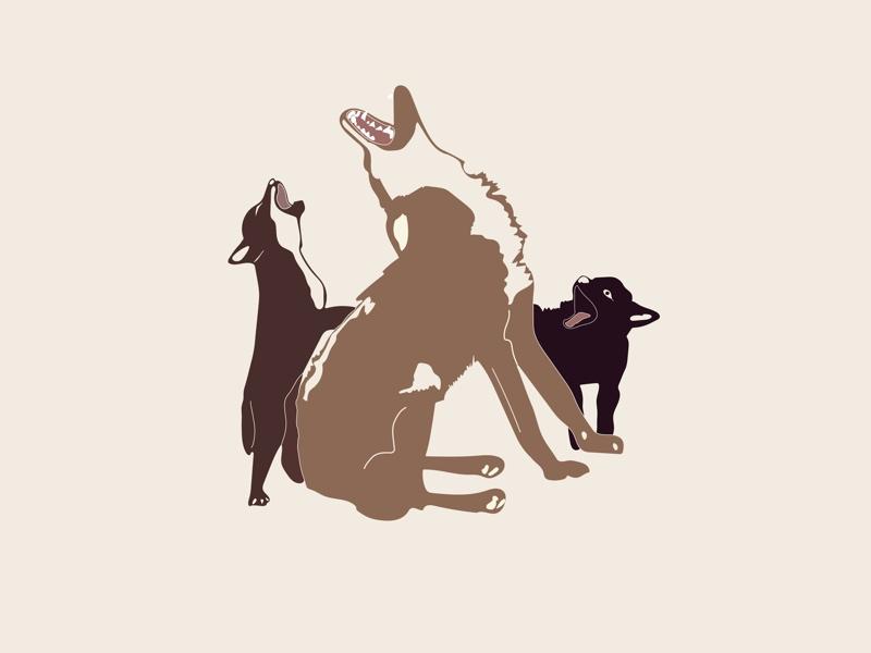 La manada vector adobe lobas wolves illustration illustrator