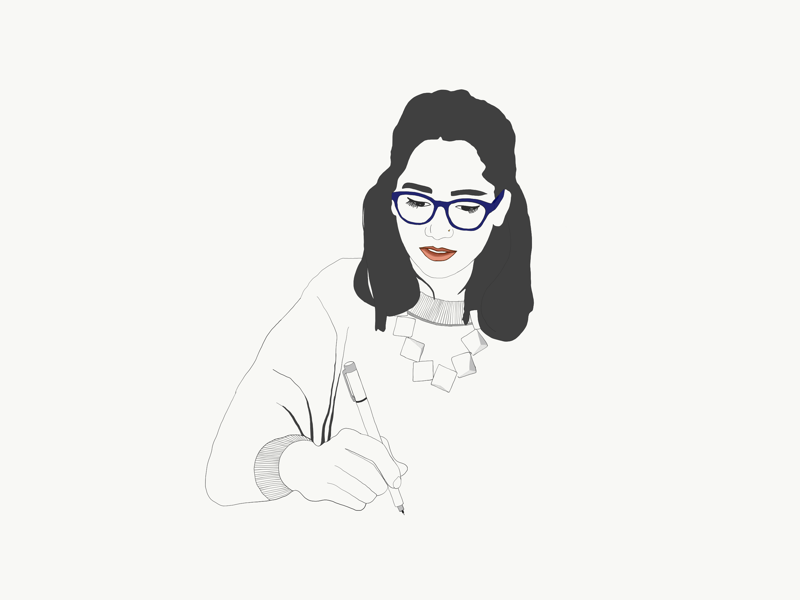 Drinks&draws boceto portrait minimalism ink sketchers drinkanddraw ilustración animation illustration sketch drawing