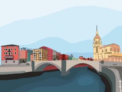 Bilbao urbanismo basque country illustration ilustración urbanismawards bilbao europa ciudad