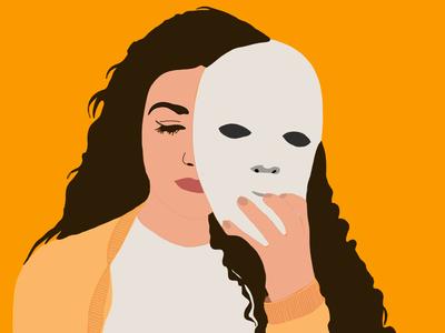 Fuera máscaras personaje character design idea dibujo ilustración radicales libres procreate digital art ipad sketch mask illustration