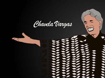 Chavela digital homenaje chavelavargas illustration sketchapp procreate ipad ilustración