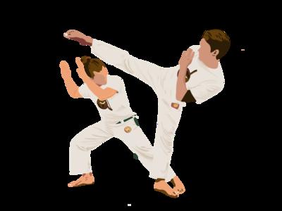 Capoeira affisch procreate poster sketch ilustración illustration capoeira