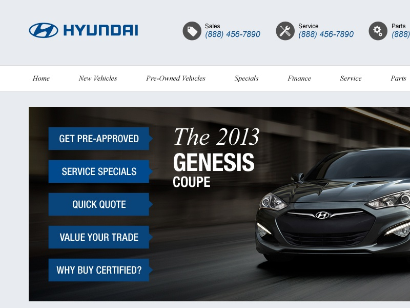 Hyundai Dealership Website By Eric Malcolm On Dribbble