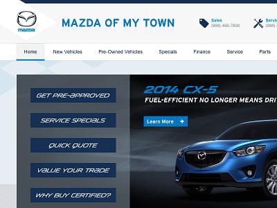 My Town Mazda auto dealer cars web design dealership mazda car dealer