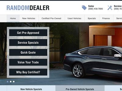 Random Dealer auto dealer web design dealership cars website car dealer