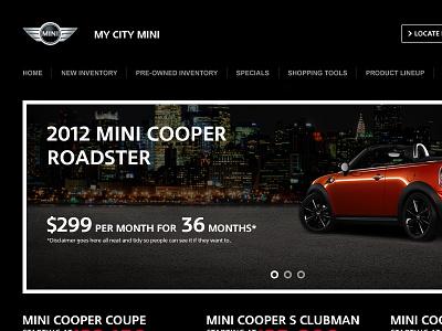 MINI Website Concept mini web design website auto dealer cars dealership car dealer