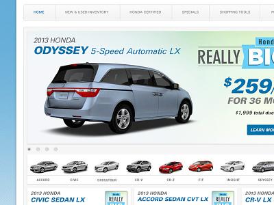 Honda Website Concept web design auto dealer cars honda website car dealer