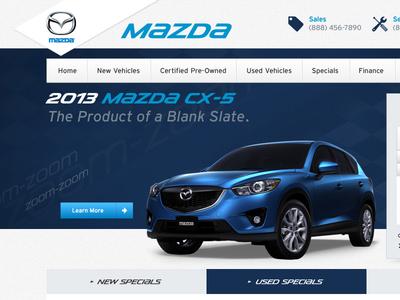 Another Mazda Dealer Website web design auto dealer cars mazda website car dealer