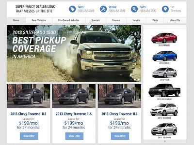 Chevy Dealer Website website web design auto dealer cars chevy car dealer