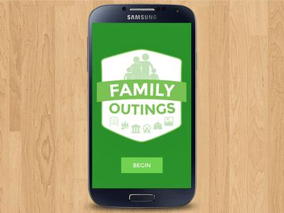 Family Outings ui logo mobile app code michigan