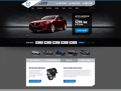 Another Mazda Dealer Site auto dealer car dealer cars web design website mazda