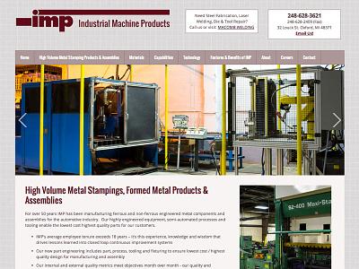 Industrial Machine Products - Web Design web design industrial