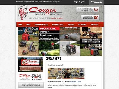 Cougar Sales & Rental - Web Design web design rental website ecommerce