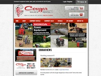Cougar Sales & Rental - Web Design