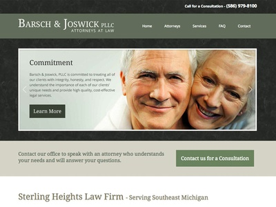Barsch & Joswick Law Firm - Web Design web design lawyer