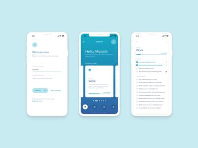 Personal tasks iOS app