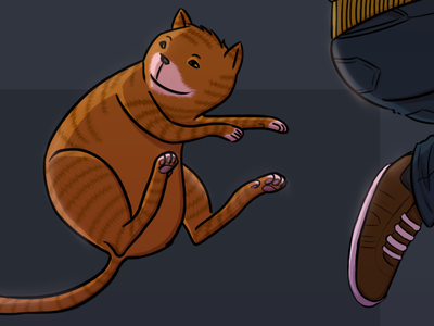 2014: Time to level up! 2014 new year illustration portfolio character character design family cat