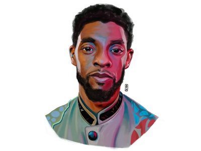 Rest in power, King! portrait illustration digital art art chadwick boseman restinpower