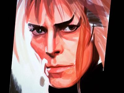 David Bowie tribute [work in progress] work in progress tribute portrait digital art labyrinth jareth the goblin king david bowie actor musician illustration