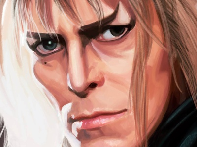 David Bowie tribute complete labyrinth jareth the goblin king david bowie tribute portrait digital art actor musician illustration