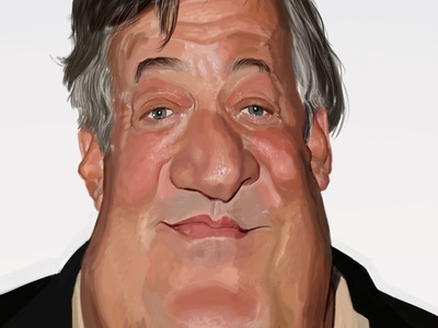 Stephen Fry caricature stephen fry painting caricature study art work in progress portrait digital art character illustration