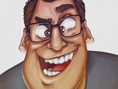 New profile picture painting digital art cartoon caricature profile portrait character illustration