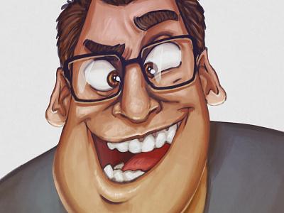 New profile picture painting digital art cartoon caricature profile portrait character illustration
