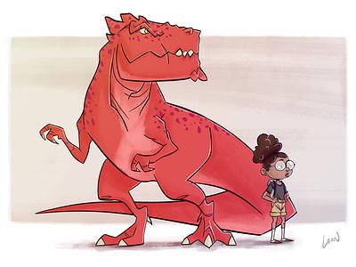 Moon Girl & Devil Dinosaur characterdesign digitalart art digital illustration comics marvel fanart devildinosaur moongirl verzoekhoek