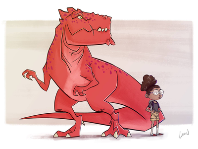 Moon Girl & Devil Dinosaur characterdesign digitalart art digital illustration comics marvel fanart devildinosaur moongirl verzoekhoek