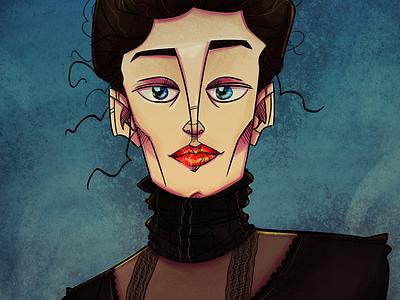 Vanessa Ives illustration pennydreadful vanessaives evagreen characterdesign character digitalart digital art