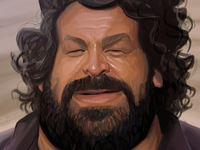 Caricature studies: Tribute to Bud Spencer