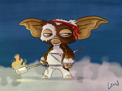 Battle Armor Gizmo! gremlins gizmo digital art digital art movie 80s fanart illustration