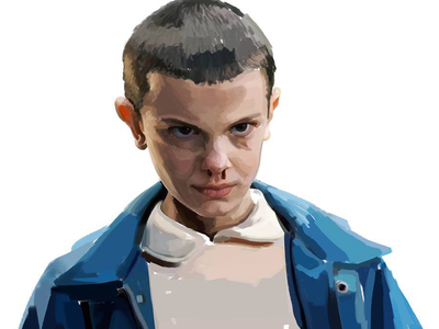 Eleven - Stranger Things [Work in progress] netflix stranger things eleven work in progress illustration portrait painting portrait digital art digital character design character art