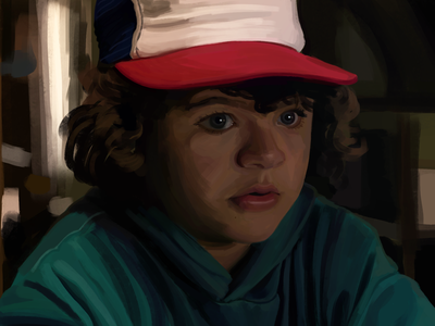Dustin - Stranger Things [character / painting study] study stranger things portrait painting portrait netflix illustration dustin digital art digital character design character art