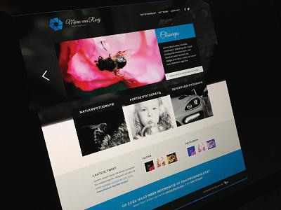 Marco van Rooij Photography Website web design web design blue photography white grey dark grey portfolio ui slider clean