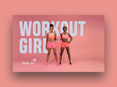 Fitness and workout website concept