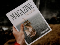 Magazine Mockup 1 Free Psd Download